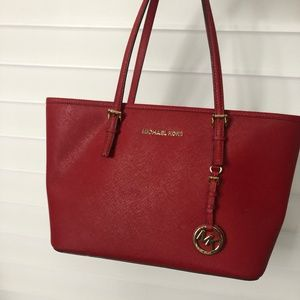 Authentic Red Michael Kors Purse